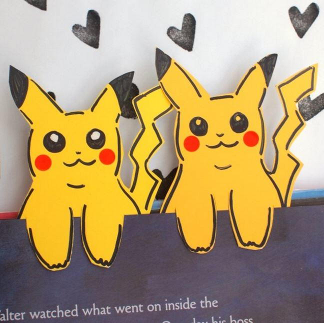 Easy Eevee DIY - Pokemon Bookmark Corners - Origami Inspired ... | 646x648