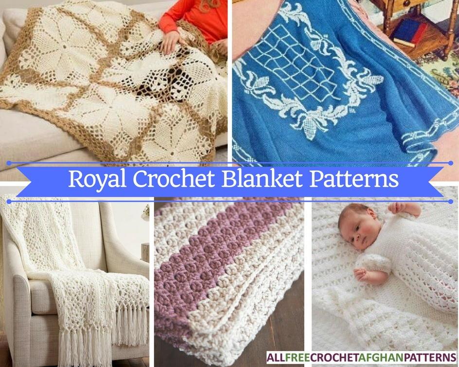 17 Royal Crochet Blanket Patterns Allfreecrochetafghanpatternscom
