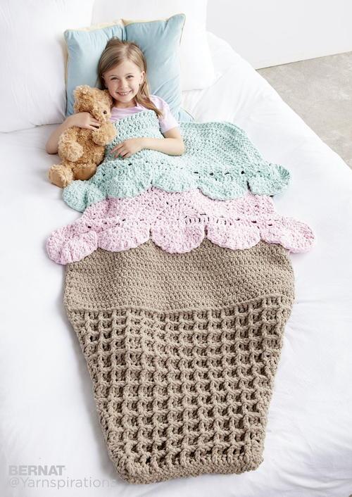 Sweet Dreams Snuggle Sack | AllFreeCrochetAfghanPatterns.com