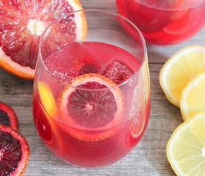 Blood Orange Champagne Punch