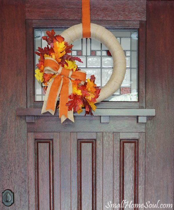 Easy Fall Door Decorations: Front Door DIY Fall Wreath