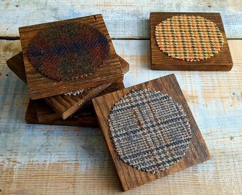 Rustic chic diy coasters for Diy rustic coasters
