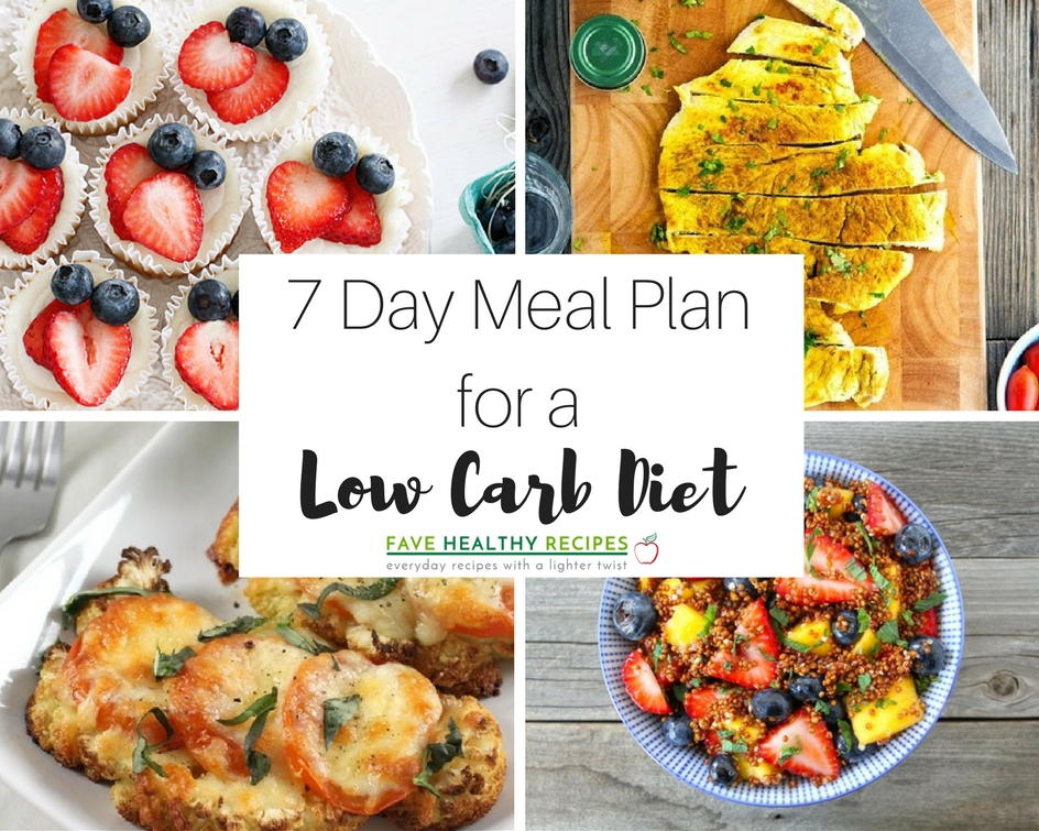 7 Day Meal Plan With All Low Carb T Recipes Favehealthyrecipes