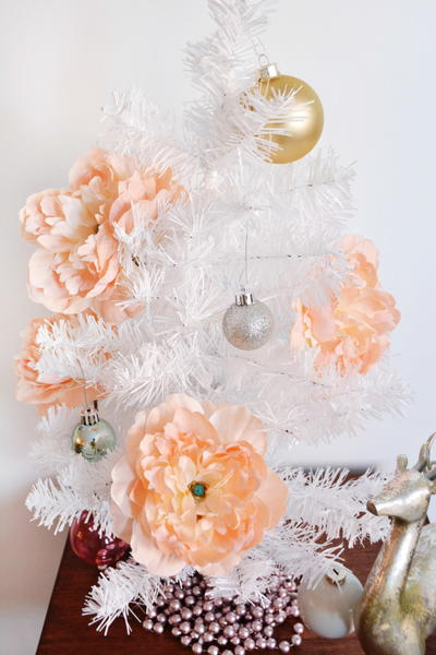 Blushing Peony DIY Christmas Ornaments