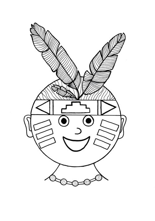 Thanksgiving Native American Coloring Page