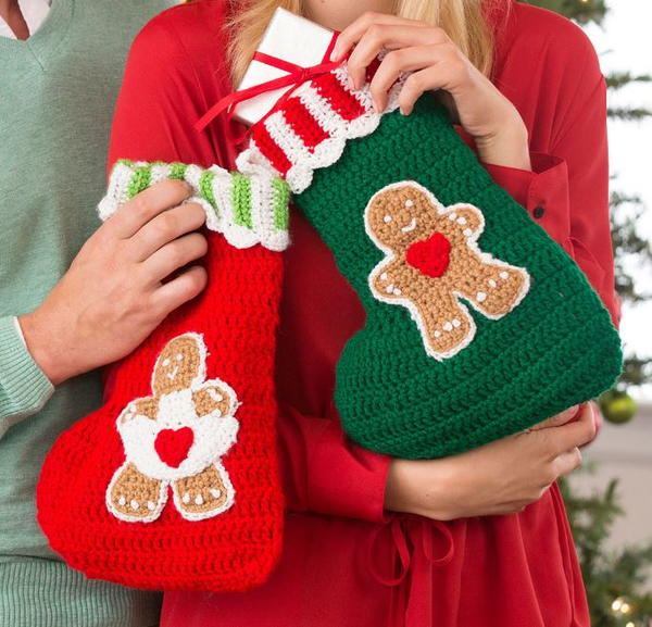 Yummy Gingerbread Crochet Stockings