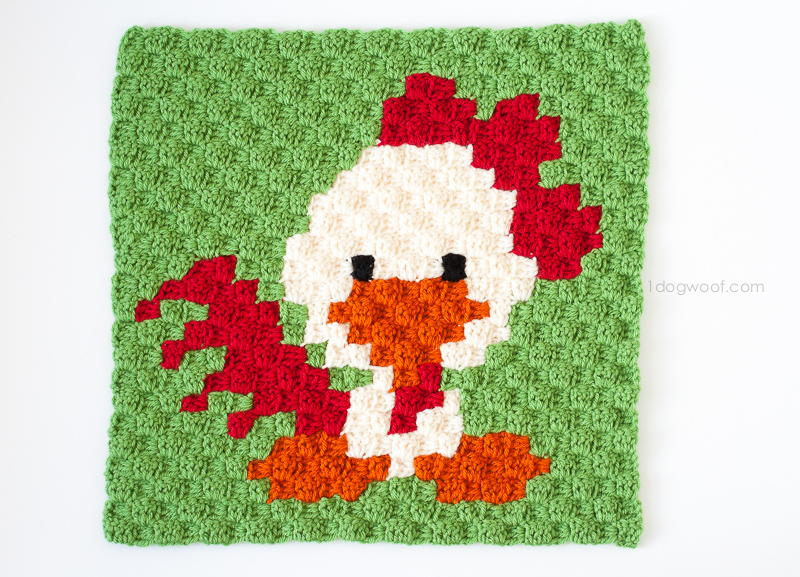 Zoodiacs Rooster Afghan Square Allfreecrochet Com