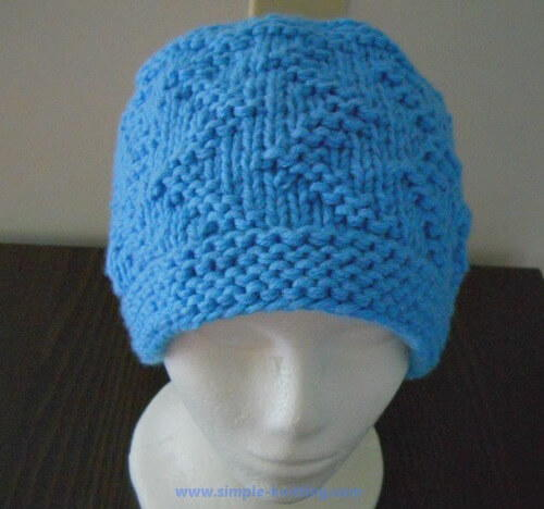 Knitting Hat Patterns For Beginners : Beginner zig zag hat allfreeknitting