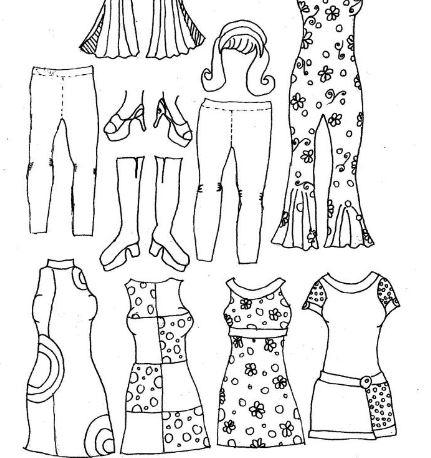 photo regarding Free Printable Paper Dolls Black and White referred to as Historic Womens Type Printable Paper Dolls