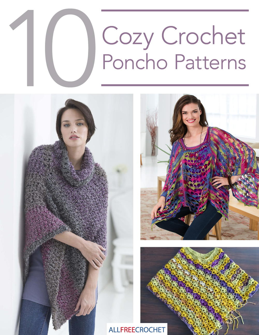 10 Cozy Crochet Poncho Patterns Allfreecrochetcom
