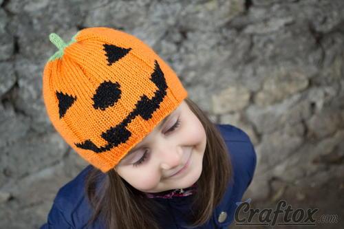 Child S Pumpkin Hat Allfreeknitting Com