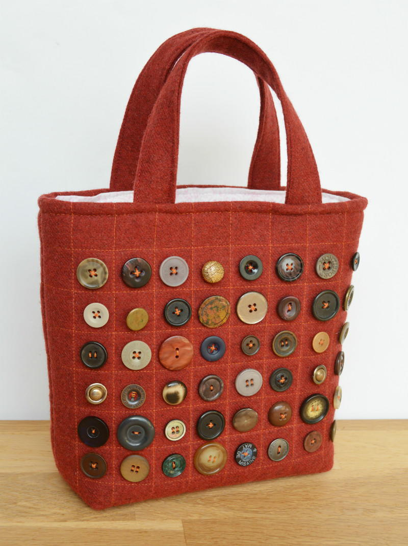 Small Button Tote Bag Allfreesewing Com