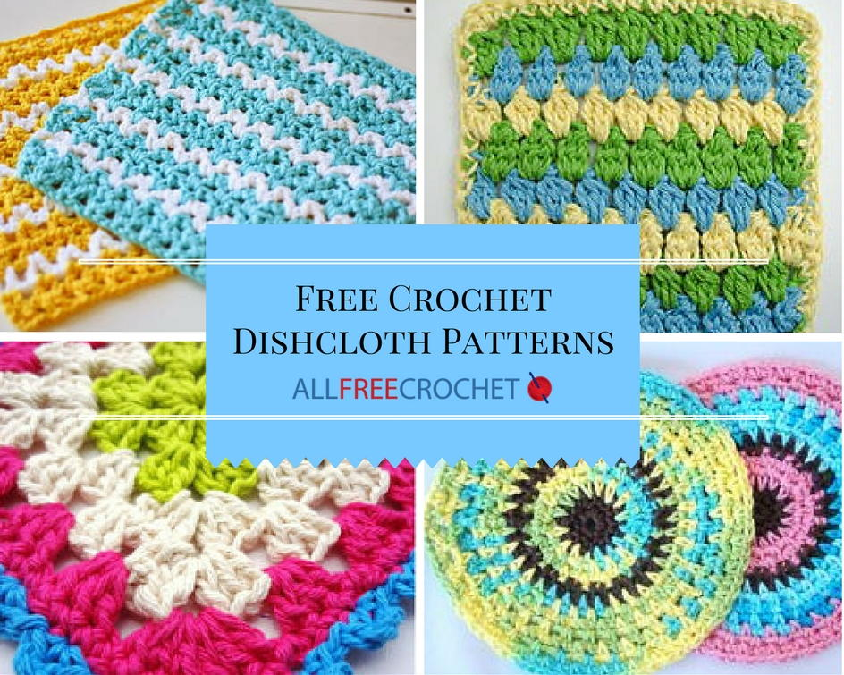 Crochet Patterns Dishcloths Free : 51 Free Crochet Dishcloth Patterns AllFreeCrochet.com
