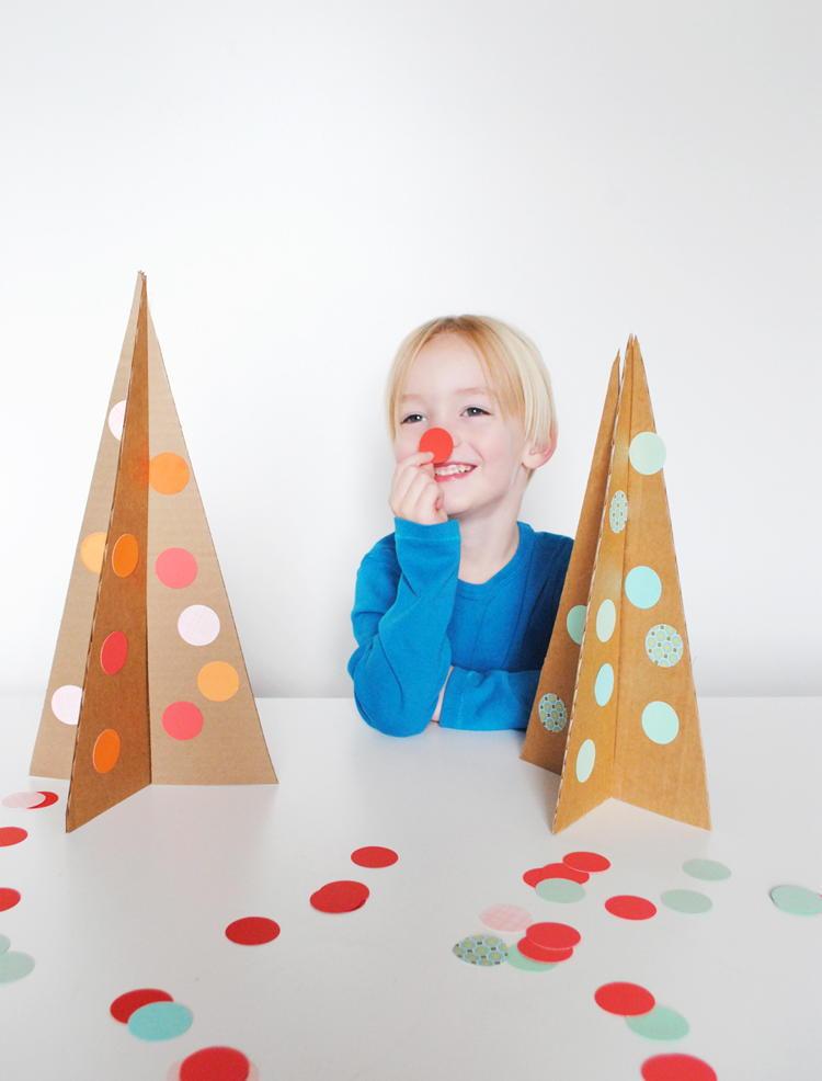 Simple Cardboard Christmas Tree Allfreekidscrafts Com