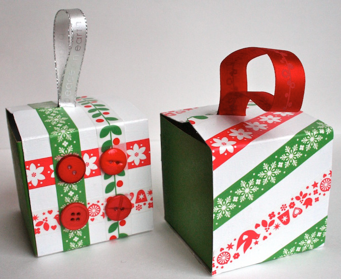 Recycled Christmas Ornaments Ideas.Recycled Gift Box Christmas Ornaments Allfreepapercrafts Com