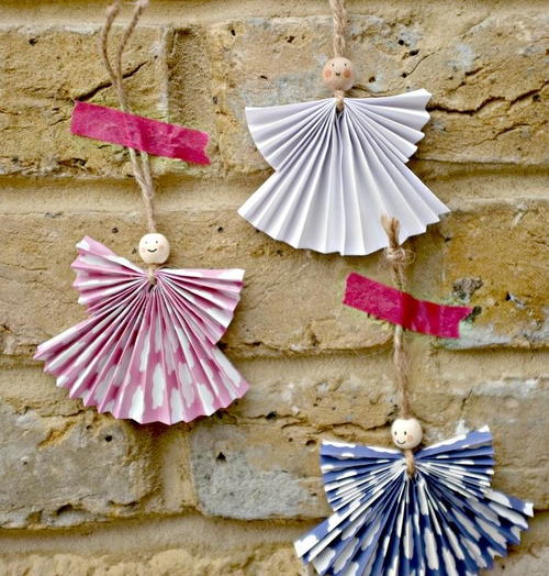 Christmas Crafts Paper Angels : Paper angel ornament crafts for kids