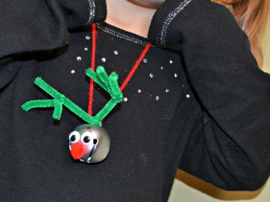 Reindeer Bell DIY Necklace