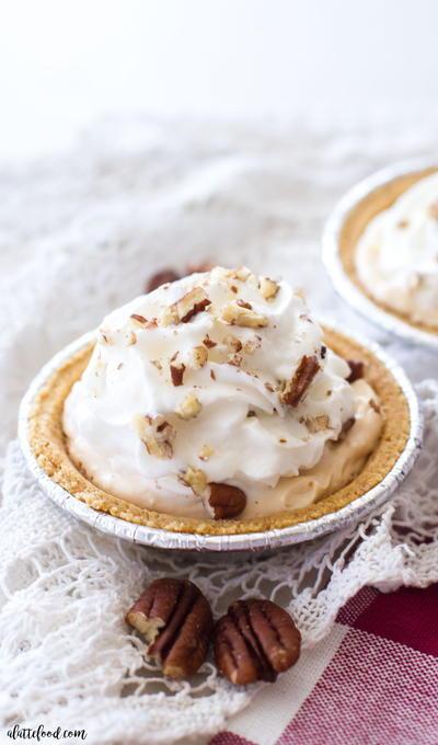 Lighter Pumpkin Pecan Cream Pie