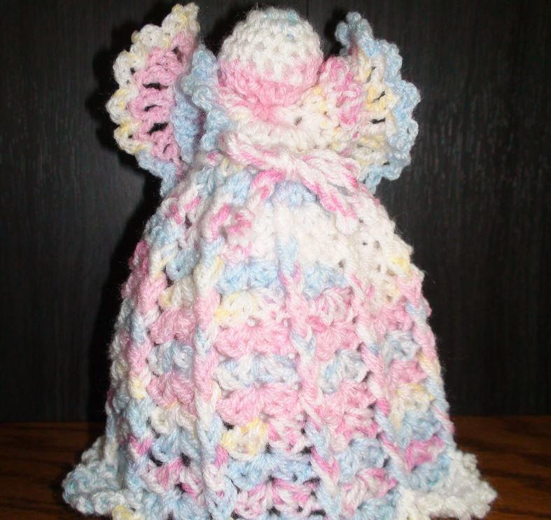 dreamy angel crochet tree topper