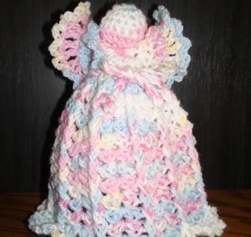 Free Crochet Patterns Christmas Tree Topper : Dreamy Angel Crochet Tree Topper AllFreeChristmasCrafts.com