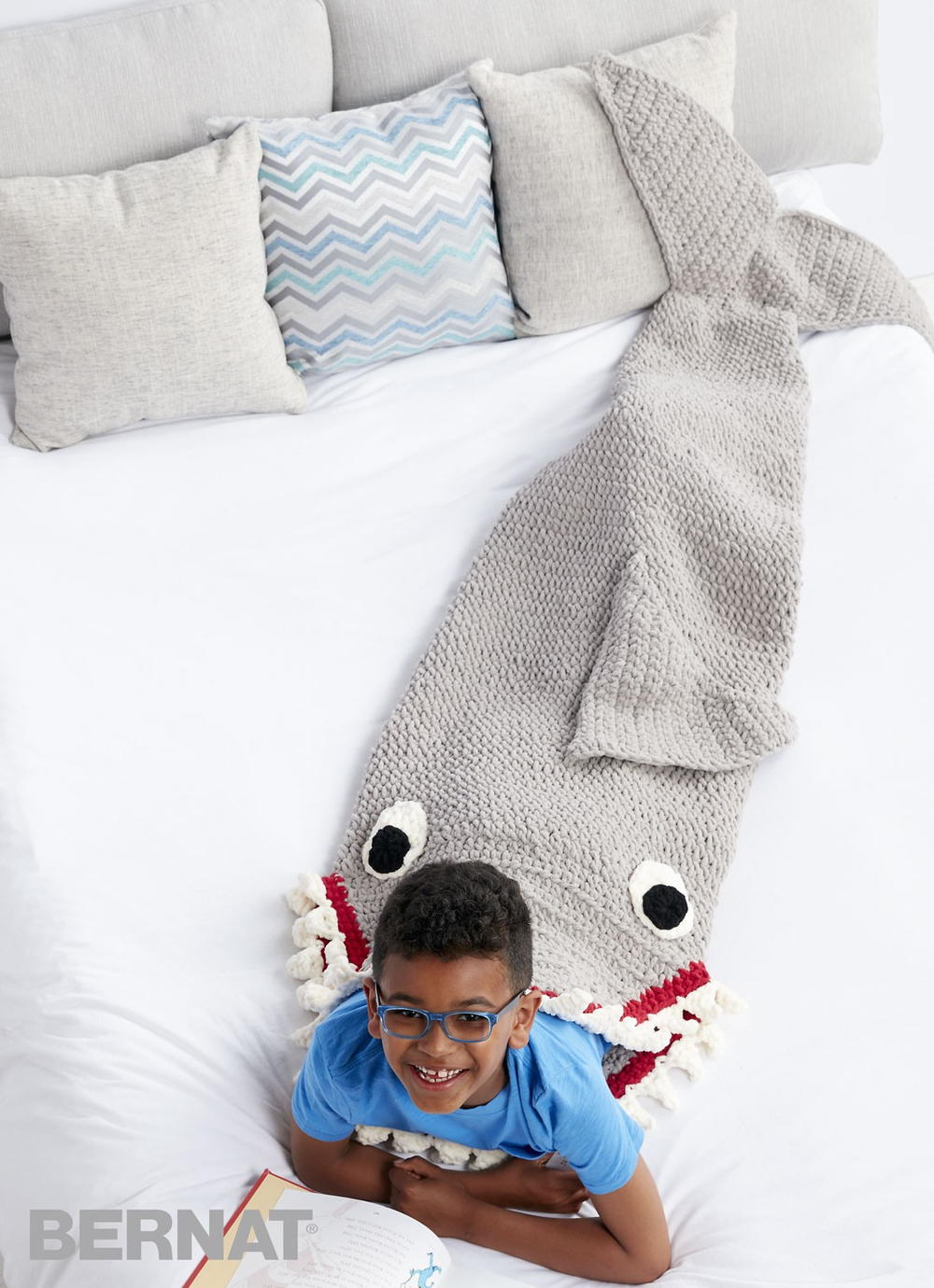 Sharkbite Crochet Snuggle Sack