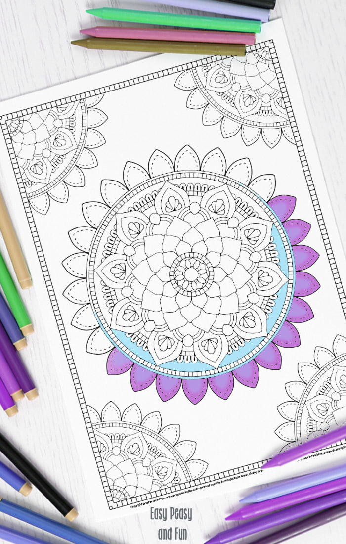 Mandala Adult Coloring Page FaveCrafts