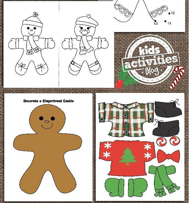 picture regarding Printable Crafts for Kids named Printable Gingerbread Guy Routines for Youngsters