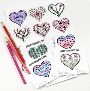 Valentine's Day Hearts Coloring Pages