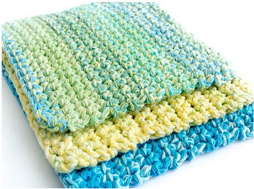 Easy Crochet Top Patterns For Beginners : Thick Crochet Dishcloth Pattern FaveCrafts.com