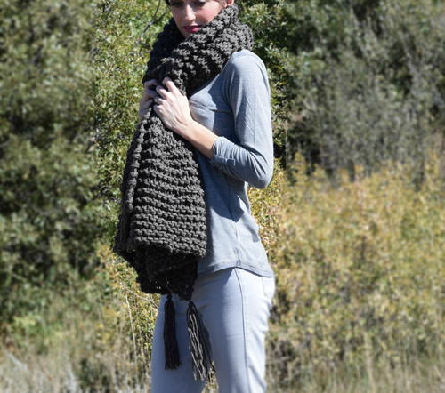Big Beginner Knit Shawl - Scarf