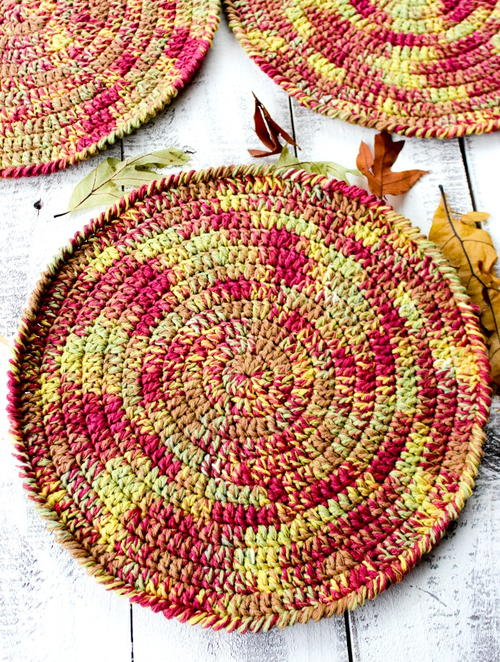 Autumn Placemats Free Crochet Pattern FaveCrafts.com