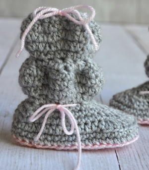 Baby Bubble Booties Crochet Pattern