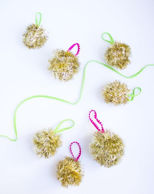 Unique tinsel garland homemade ornaments