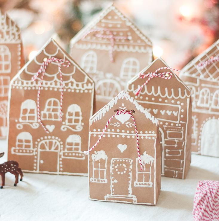 Gingerbread House DIY Treat Bags