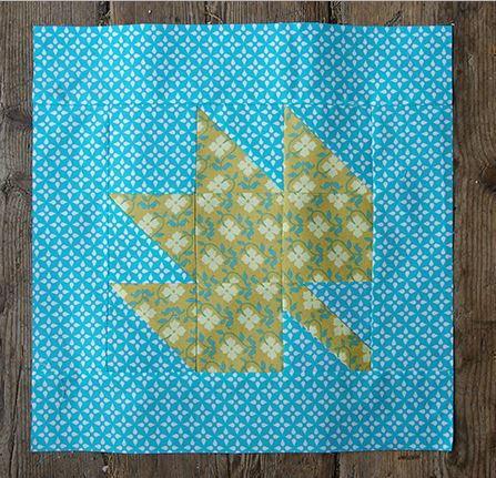 Leaf Quilt Pattern Blocks : Canadian Maple Leaf Block FaveQuilts.com