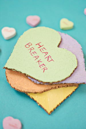 Easy Conversation Heart Coasters