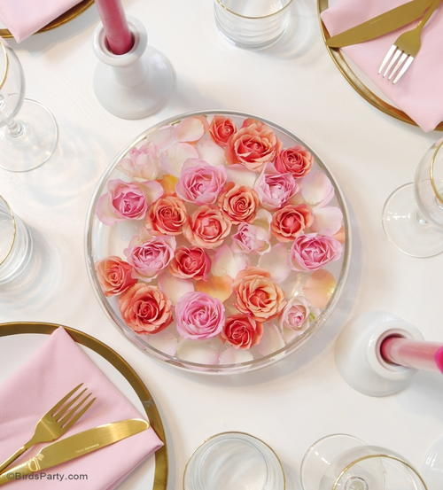Floating Roses DIY Centerpiece