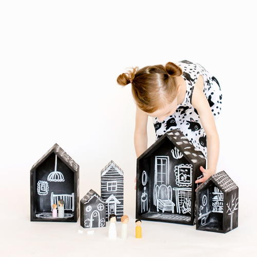 DIY Chalkboard Dollhouse
