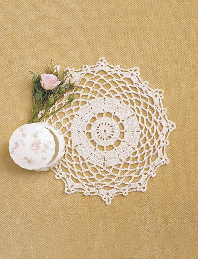 Free Crochet Patterns For Table Doilies : 13 Free Crochet Doily Patterns for Beginners FaveCrafts.com