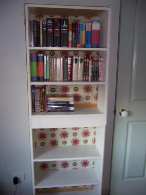 Beautiful Bookshelf Decoupage