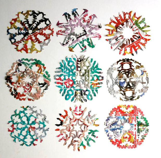 Junk Mail Paper Snowflake Patterns | AllFreePaperCrafts com