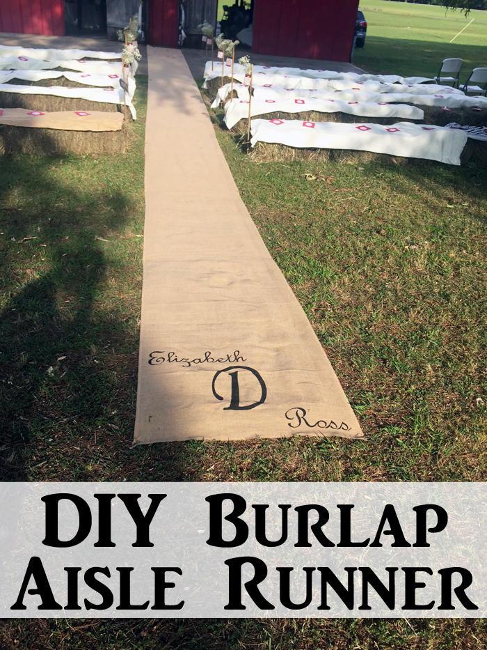 Diy Burlap Aisle Runner Favecrafts Com