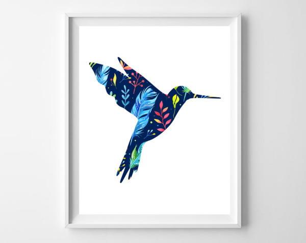 Hummingbird Printable Art FaveCrafts