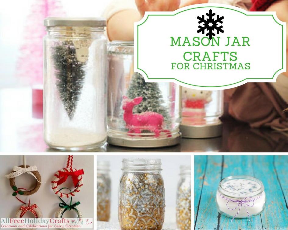 35 mason jar crafts for christmas. Black Bedroom Furniture Sets. Home Design Ideas