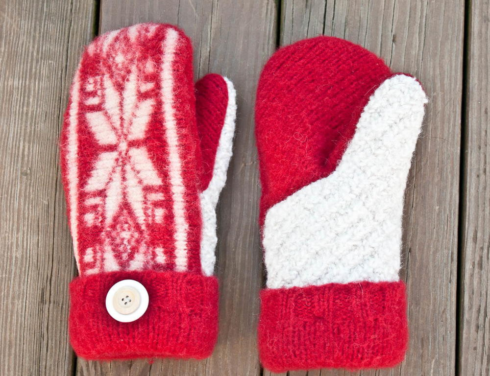 Amish Craft Centers : Upcycled sweater amish mitten pattern