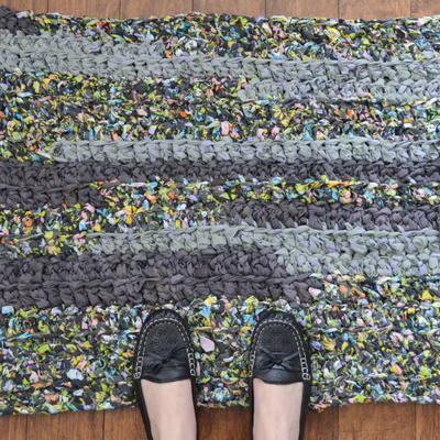 Easy Crochet Rag Rug