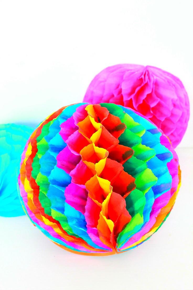 diy honeycomb pom poms favecraftscom
