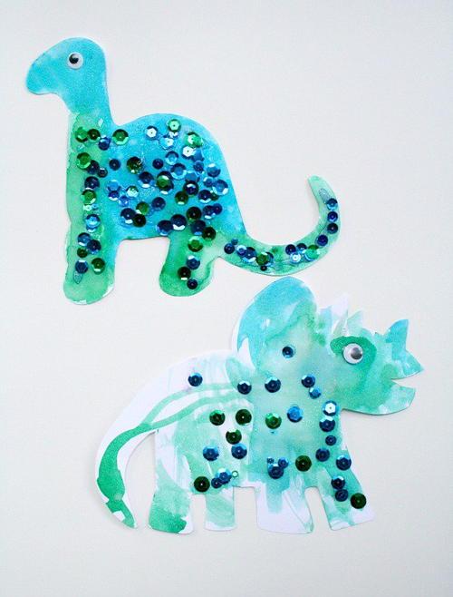 dinosaur art for preschoolers toddler dinosaur craft allfreekidscrafts 301