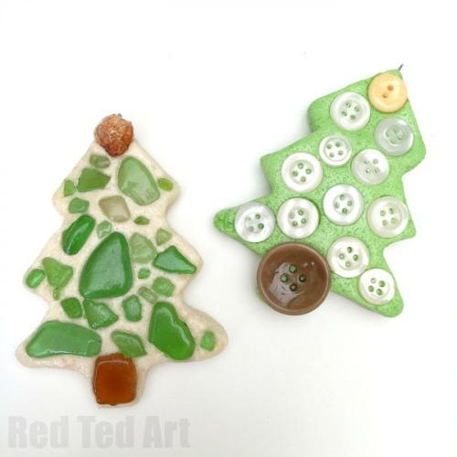 Salt Dough Tree Handmade Ornaments