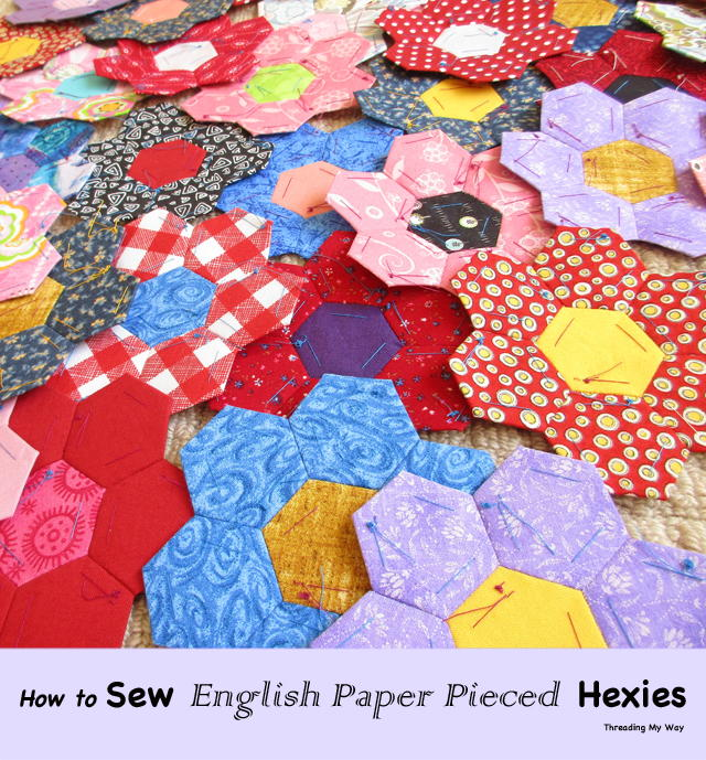 Sewing English Paper Pieced Hexagons Favequilts Com
